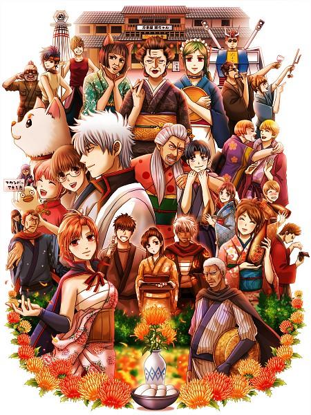 Tags: Anime, Eriyama, Gintama, Sakata Gintoki, Murata Tetsuko, Shimura Tae, Hiraga Gengai, Otose (Gin Tama), Honjou Kyoushirou, Kagura (Gin Tama), Tama (Gin Tama), Kozenigata Heiji, Hasegawa Taizou, Silver Soul