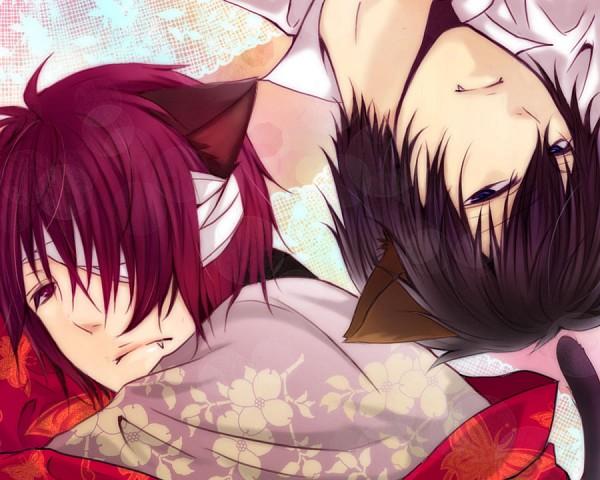 Tags: Anime, Pixiv Id 2703758, Gintama, Hijikata Toushirou, Takasugi Shinsuke, Fanart, Pixiv, HijiTaka, Silver Soul