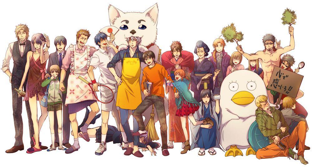 Tags: Anime, Pixiv Id 1731899, Gintama, Kagura (Gin Tama), Hijikata Toushirou, Sadaharu, Abuto, Sakamoto Tatsuma, Hasegawa Taizou, Takasugi Shinsuke, Kamui (Gin Tama), Mutsu (Gin Tama), Shimura Shinpachi, Silver Soul