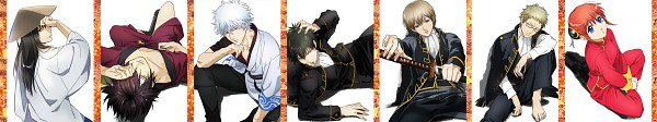 Tags: Anime, Mitsutaro, Gintama, Kagura (Gin Tama), Sakata Gintoki, Katsura Kotaro, Okita Sougo, Hijikata Toushirou, Itou Kamotarou, Takasugi Shinsuke, Pixiv, Fanart, Silver Soul