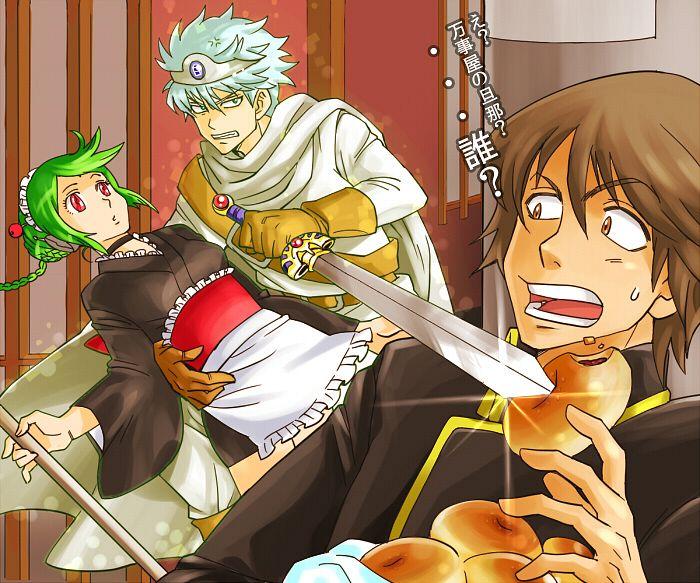 Tags: Anime, mm, Gintama, Tama (Gin Tama), Yamazaki Sagaru, Leukocyte King, Anpan, Fanart, Pixiv, YamaTama, Silver Soul