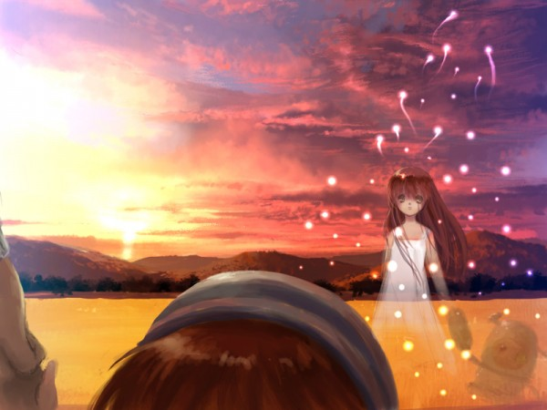 Tags: Anime, Clannad: After Story, CLANNAD, Garbage Doll, Okazaki Ushio, Girl from the Illusionary World, Fireflies