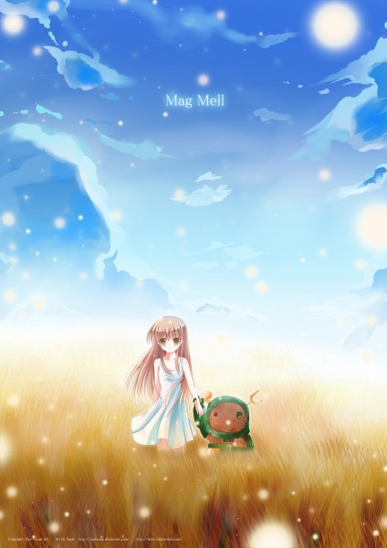 Tags: Anime, Xephonia, CLANNAD, Girl from the Illusionary World, Garbage Doll, Wheat, Fanart, Mobile Wallpaper, Vector