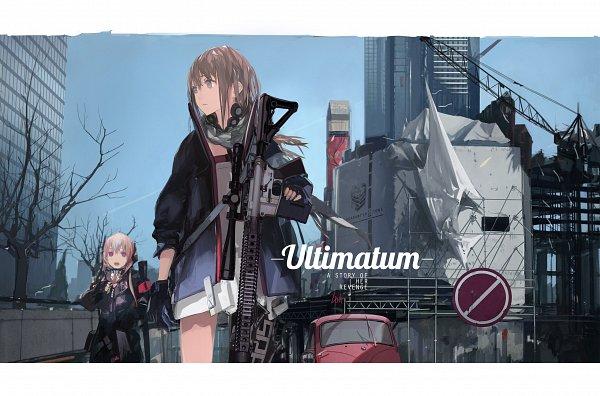 Tags: Anime, LIN+, Girls Frontline, M4 SOPMODII (Girls Frontline), AR-15 (Girls Frontline), Scope, Assault Rifle