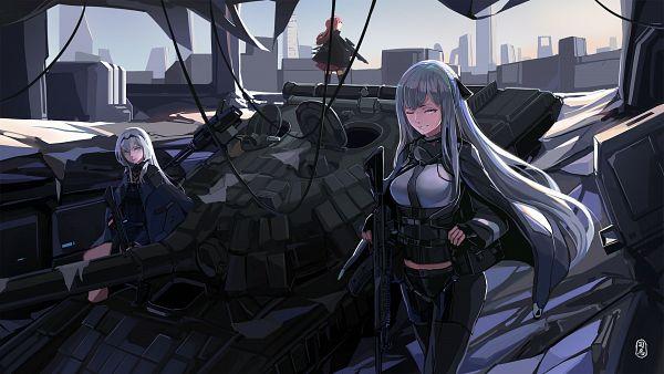 Tags: Anime, Pixiv Id 7933104, Girls Frontline, AN-94 (Girls Frontline), AK-12 (Girls Frontline), AR-15 (Girls Frontline), Assault Rifle, Tank, Wallpaper, Fanart From Pixiv, Fanart, Pixiv