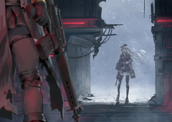 Tags: Anime, Pixiv Id 31430204, Girls Frontline, M16A1 (Girls Frontline), HK416 (Girls Frontline), Scene Reference, Fanart, Fanart From Pixiv, Pixiv