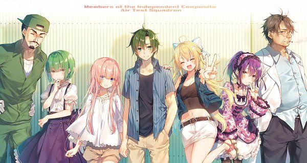 Tags: Anime, Toosaka Asagi, Girly Air Force, Phantom (Girly Air Force), Narutani Kei, Eagle (Girly Air Force), Gripen (Girly Air Force), Novel Illustration, Official Art, Character Request
