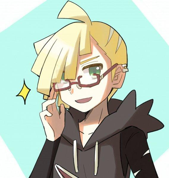 Tags: Anime, Pixiv Id 21726724, Pokémon Sun & Moon, Pokémon, Gladion, Aqua Background, Fanart From Pixiv, Pixiv, Fanart