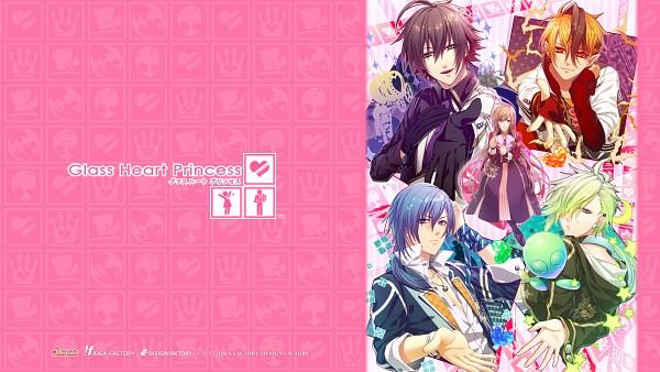 Tags: Anime, Kinami Yuki, IDEA FACTORY, Glass Heart Princess, Karasuma Yukito, Masaki Shinnosuke, Himeno Kyouko, Hoshino Kanata, Asahina Tenma, Alien, Official Wallpaper, Facebook Cover, Wallpaper