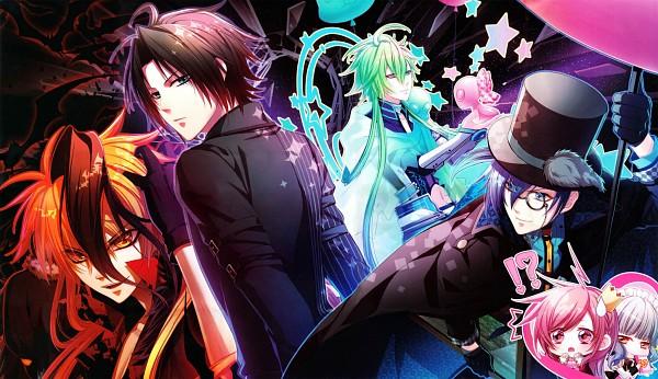 Tags: Anime, Kinami Yuki, IDEA FACTORY, Glass Heart Princess, Masaki Shinnosuke, Himeno Kyouko, Hoshino Kanata, Asahina Tenma, Karasuma Yukito, Alien, Wallpaper, Official Art