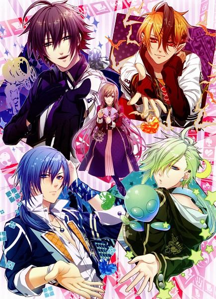 Tags: Anime, IDEA FACTORY, Glass Heart Princess, Karasuma Yukito, Masaki Shinnosuke, Himeno Kyouko, Hoshino Kanata, Asahina Tenma, Scan, Mobile Wallpaper