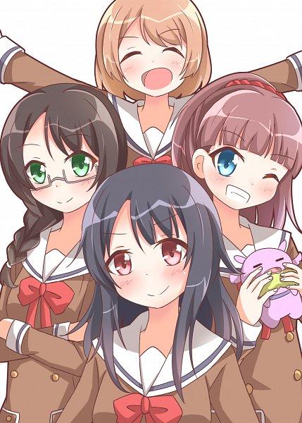 Tags: Anime, Pixiv Id 3118936, BanG Dream!, Nijikki Hinako, Wanibe Nanana, Uzawa Rii, Ushigome Yuri, Fanart, Fanart From Pixiv, Pixiv, Glitter*Green