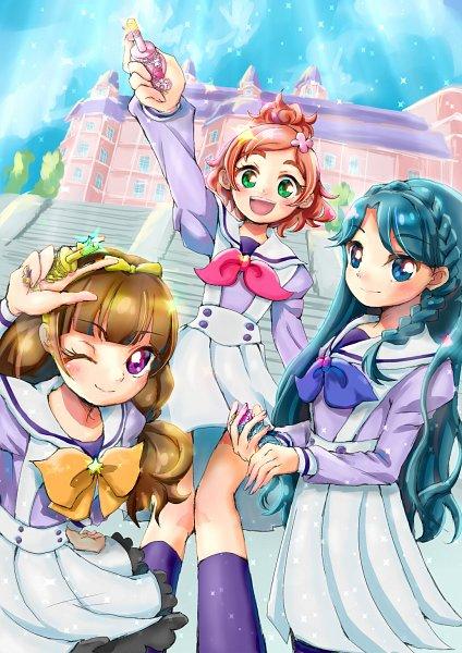 Tags: Anime, Pixiv Id 1706251, Go! Princess Precure, Amanogawa Kirara, Kaidou Minami, Haruno Haruka, Tumblr, Fanart From Pixiv, Pixiv, Fanart