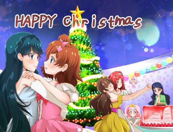 Tags: Anime, Pixiv Id 1046271, Go! Princess Precure, Haruno Haruka, Aroma (Go! Princess Precure), Puff (Go! Princess Precure), Amanogawa Kirara, Kaidou Minami, Akagi Towa, Fanart, Fanart From Pixiv, Pixiv