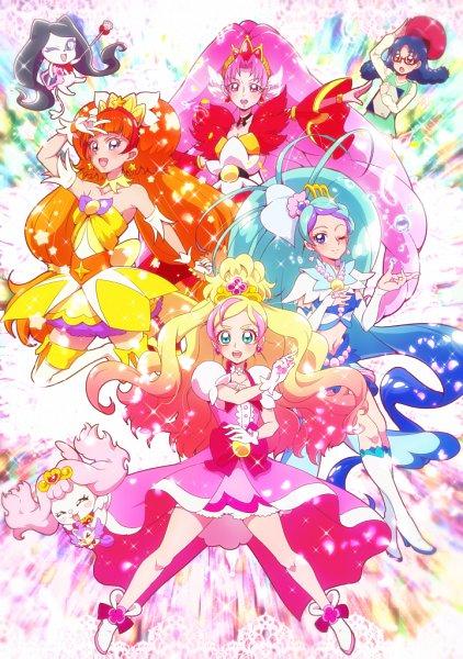 Tags: Anime, Tj-type1, Go! Princess Precure, Aroma (Go! Princess Precure), Haruno Haruka, Puff (Go! Princess Precure), Cure Mermaid, Nanase Yui, Kaidou Minami, Cure Scarlet, Cure Twinkle, Miss Shamour, Cure Flora