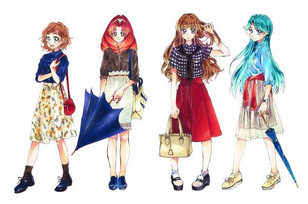 Tags: Anime, Pixiv Id 4996595, Go! Princess Precure, Akagi Towa, Amanogawa Kirara, Kaidou Minami, Haruno Haruka, Fanart From Pixiv, Pixiv, Fanart