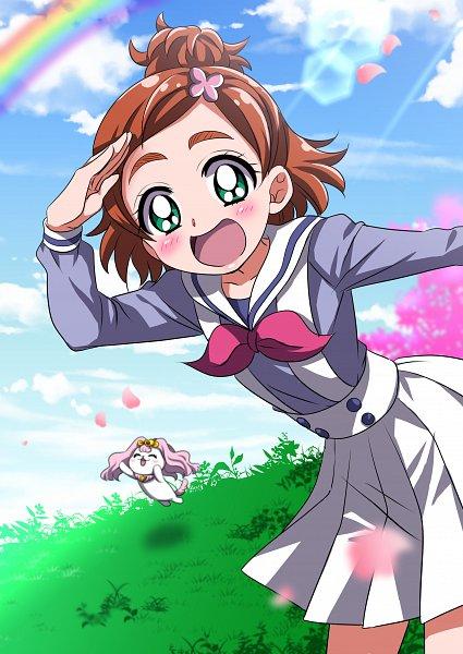 Tags: Anime, Pixiv Id 2418236, Go! Princess Precure, Puff (Go! Princess Precure), Haruno Haruka, Fanart From Pixiv, Pixiv, Fanart