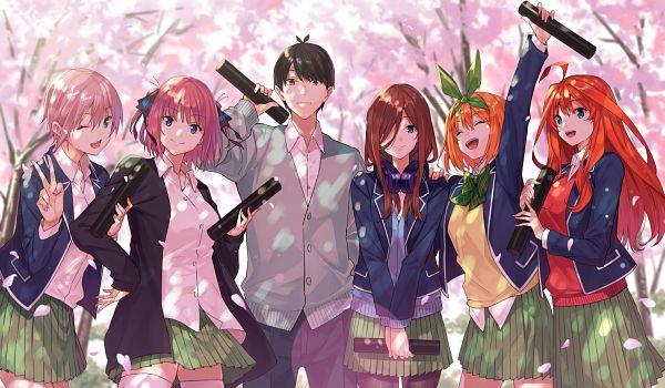 Tags: Anime, Pixiv Id 178816, Go-Toubun no Hanayome, Uesugi Fuutarou, Nakano Nino, Nakano Miku, Nakano Yotsuba, Nakano Itsuki, Nakano Ichika, Diploma, Quintuplets, The Quintessential Quintuplets