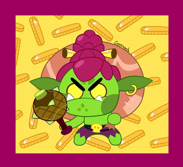 Tags: Anime, BlueberryCamille, Cookie Run: OvenBreak, Cookie Run, Goblin Cookie, Goblin, Fanart From DeviantART, PNG Conversion, deviantART, Fanart