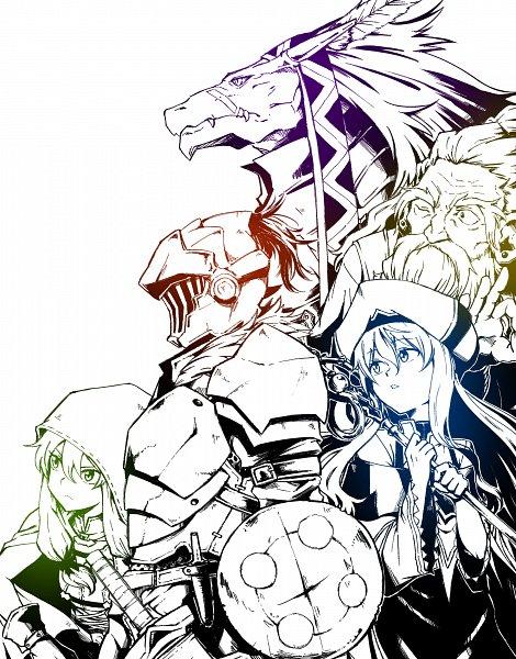 Tags: Anime, Pixiv Id 9284013, Goblin Slayer, Lizard Priest, Dwarf Shaman, High Elf Archer, Goblin Slayer (Character), Priestess (Goblin Slayer), Fanart From Pixiv, Pixiv, Fanart