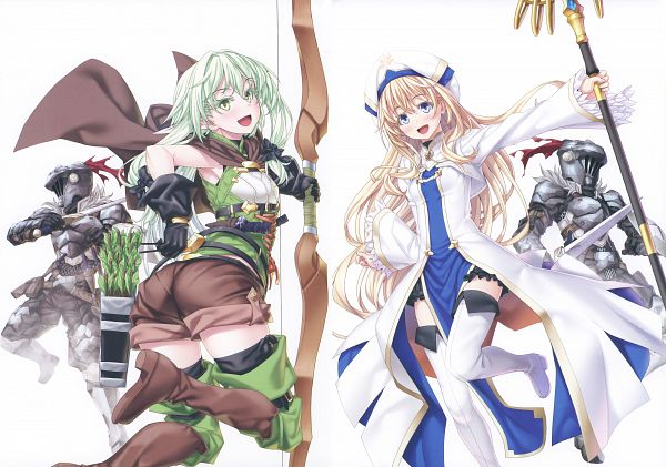 Tags: Anime, Kannatsuki Noboru, Goblin Slayer, Gob-Sla, Priestess (Goblin Slayer), High Elf Archer, Goblin Slayer (Character), Scan, Comic Market 94, Comic Market, Official Art
