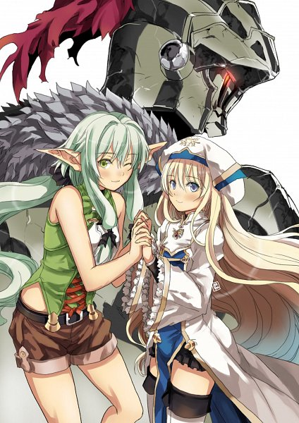 Tags: Anime, Pixiv Id 6659666, Goblin Slayer, High Elf Archer, Goblin Slayer (Character), Priestess (Goblin Slayer), Pixiv, Fanart, Fanart From Pixiv