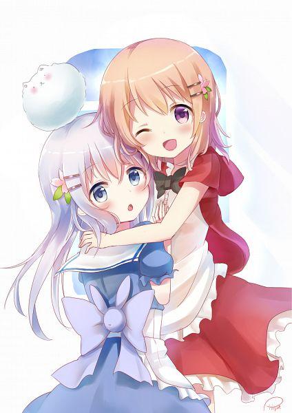 Tags: Anime, Piripun, Gochuumon wa Usagi Desu ka, Tippy (Gochuumon wa Usagi Desu ka?), Kafuu Chino, Hoto Kokoa, PNG Conversion, Mobile Wallpaper, Is The Order A Rabbit?