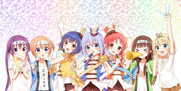 Tags: Anime, Piripun, Gochuumon wa Usagi Desu ka, Jouga Maya, Hoto Kokoa, Kirima Sharo, Ujimatsu Chiya, Tedeza Rise, Natsu Megumi, Kafuu Chino, Is The Order A Rabbit?