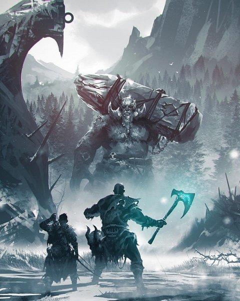 God of war 2018 zerochan anime image board - God of war jormungandr ...