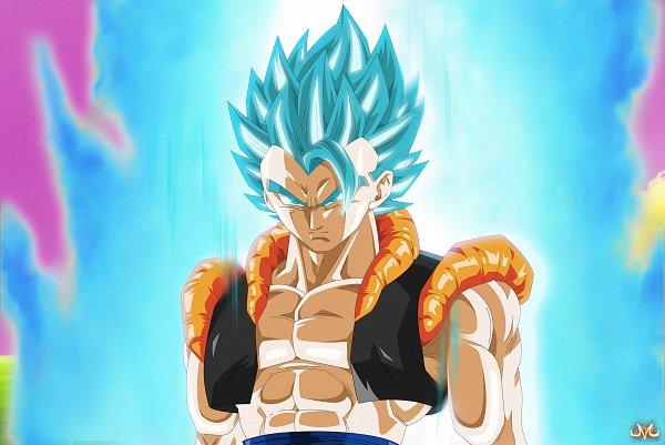 Tags: Anime, Maniaxoi, DRAGON BALL SUPER, DRAGON BALL, Son Goku (DRAGON BALL), Vegeta, Gogeta, Character Fusion, Wallpaper, Fanart, Super Saiyan Blue, Super Saiyan, Super Saiyan God