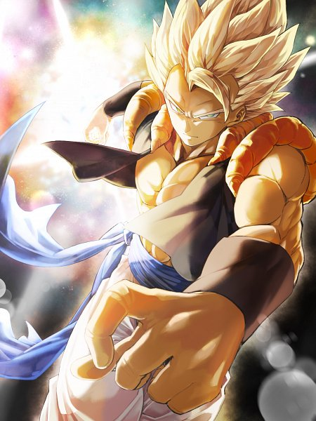 Tags: Anime, Pixiv Id 46367193, DRAGON BALL, DRAGON BALL GT, Son Goku (DRAGON BALL), Vegeta, Gogeta, Pecs, Character Fusion, Pixiv, Super Saiyan