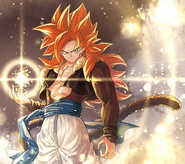 Tags: Anime, Pixiv Id 46367193, DRAGON BALL, DRAGON BALL GT, Vegeta, Gogeta, Son Goku (DRAGON BALL), Character Fusion, Pecs, Pixiv, Super Saiyan, Super Saiyan 4