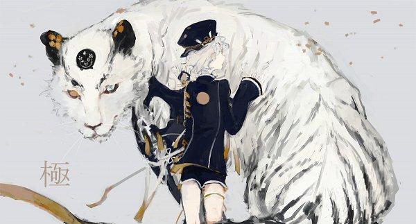 Tags: Anime, Pixiv Id 3824219, Touken Ranbu, Gokotai, White Tiger, Pixiv, Fanart, Facebook Cover, Fanart From Pixiv, Kiwame, PNG Conversion