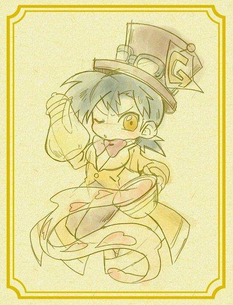 Tags: Anime, Shir0, Pokémon SPECIAL, Alice in Wonderland, Alice in Wonderland (2010 film), Pokémon, Mad Hatter, Gold (Pokémon SPECIAL)