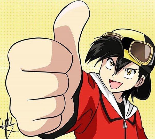 Tags: Anime, Pokémon SPECIAL, Pokémon, Gold (Pokémon SPECIAL), Thumbs Up