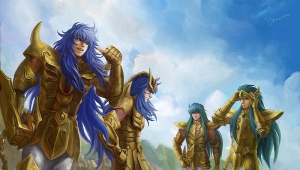 Tags: Anime, Saint Seiya, Saint Seiya Lost Canvas, Aquarius Camus, Scorpio Kardia, Scorpio Milo, Aquarius Degel, Facebook Cover, Gold Saints, Gold Saints -the Lost Canvas