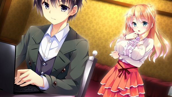Tags: Anime, Hayakawa Harui, Ensemble, Golden Marriage, Kasugano Yukariko, Tachibana Nagisa, Wallpaper, CG Art, HD Wallpaper, Official Art
