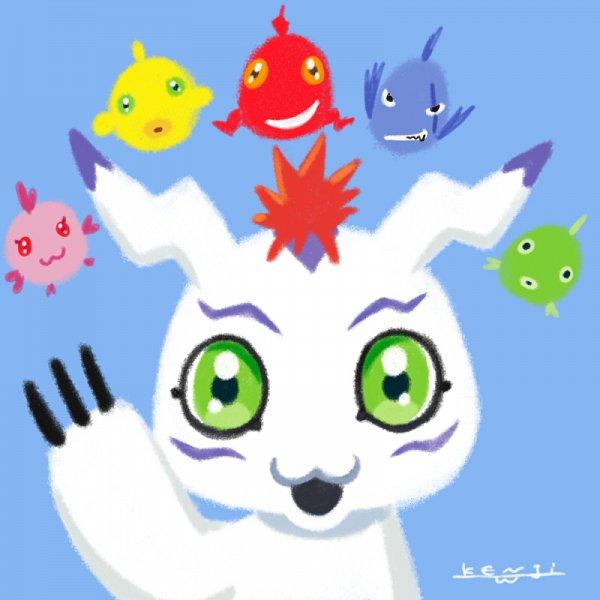 Tags: Anime, Watanabe Kenji, Digimon Adventure 2020, Digimon Adventure, Gomamon, Official Art, Twitter