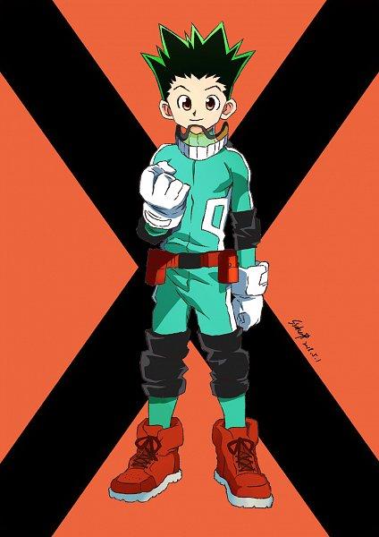Tags: Anime, Pixiv Id 14688283, Hunter x Hunter, Gon Freaks, Midoriya Izuku (Cosplay), Pixiv