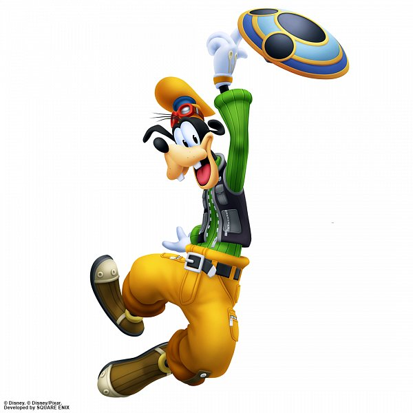 Tags: Anime, SQUARE ENIX, Kingdom Hearts, Goofy, Official Art, 3D