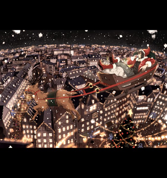 Tags: Anime, Gori Matsu, Reindeer, Pixiv, Original