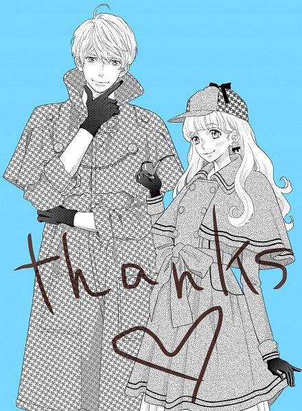 Tags: Anime, Mikimoto Rin, Gozen 0-ji Kiss Shi Ni Kite Yo, Ayase Kaede (Gozen 0-ji), Hanazawa Hinana, Aqua Background, Mobile Wallpaper, Official Art