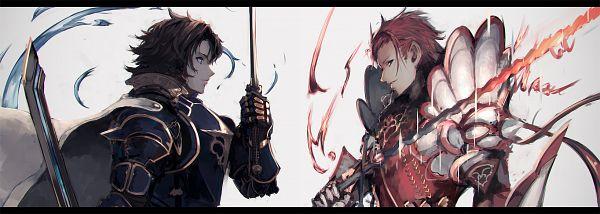 Tags: Anime, Pixiv Id 7398737, Granblue Fantasy, Lancelot (Granblue Fantasy), Percival (Granblue Fantasy), Twitter Header, PNG Conversion, Fanart