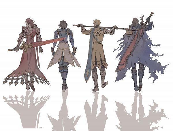 Tags: Anime, Ritsuko (Rittii), Granblue Fantasy, Vane (Granblue Fantasy), Percival (Granblue Fantasy), Lancelot (Granblue Fantasy), Siegfried (Granblue Fantasy), PNG Conversion