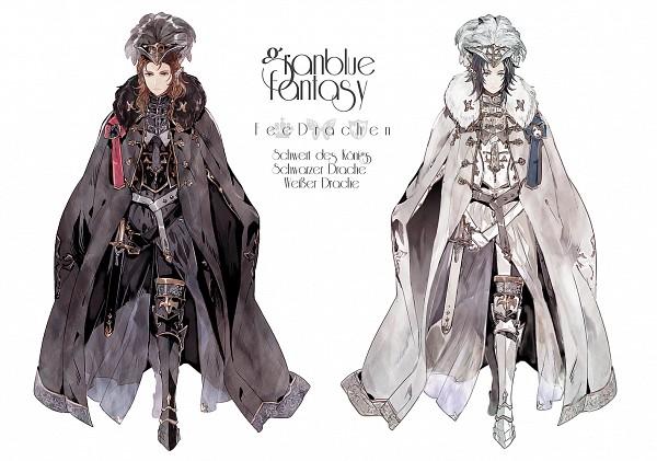 Tags: Anime, Samonya, Granblue Fantasy, Siegfried (Granblue Fantasy), Lancelot (Granblue Fantasy), German Text, Pixiv, Fanart, Fanart From Pixiv, PNG Conversion