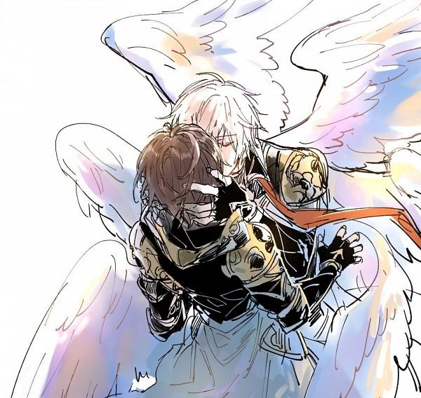 Tags: Anime, Pixiv Id 3355353, Granblue Fantasy, Sandalphon (Granblue Fantasy), Lucifer (Shingeki no Bahamut), Twitter, Fanart