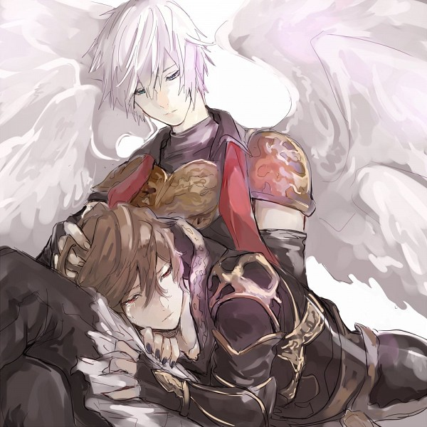 Tags: Anime, Guraburupenyo, Granblue Fantasy, Sandalphon (Granblue Fantasy), Lucifer (Shingeki no Bahamut), Extra Wings, Fanart, Twitter