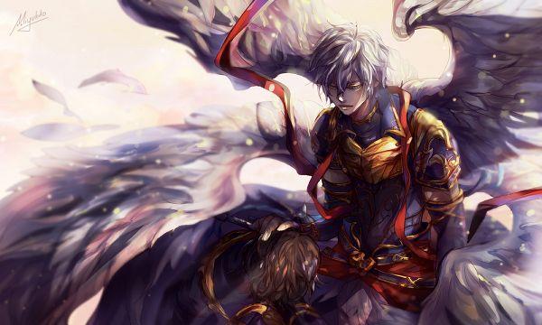 Tags: Anime, Miyukiko, Granblue Fantasy, Sandalphon (Granblue Fantasy), Lucifer (Shingeki no Bahamut), Pixiv, Fanart, Fanart From Pixiv