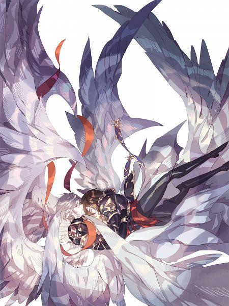 Tags: Anime, Pixiv Id 21526924, Granblue Fantasy, Sandalphon (Granblue Fantasy), Lucifer (Shingeki no Bahamut), Pixiv, Fanart, Fanart From Pixiv