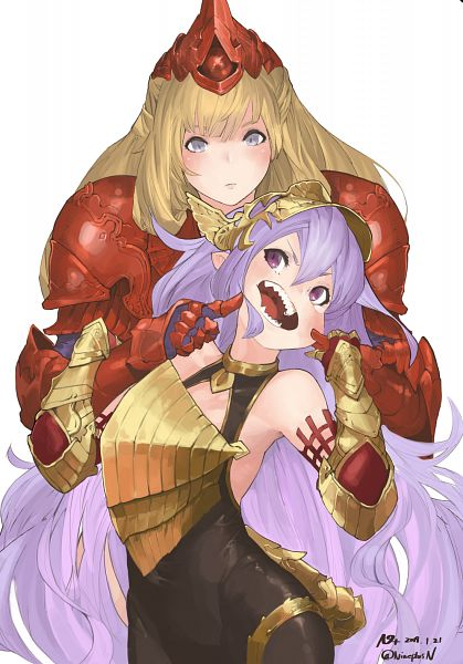 Tags: Anime, Pixiv Id 13250427, Granblue Fantasy, Athena (Shingeki no Bahamut), Medusa (Shingeki no Bahamut), Medusa